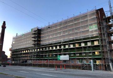 Lej facadestillads - CS City stilladser ApS